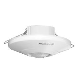 Détecteur de présence par technologie PIR, montage encastré ou en saillie au plafond