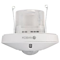 Détecteur de présence par technologie PIR avec fonction d'esclave du KDP3 360, montage encastré ou en saillie au plafond