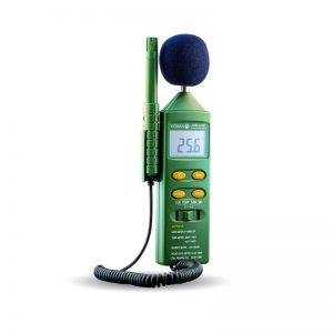 Appareil de mesure du milieu ambiant multifonction : sonomètre, luxmètre, thermomètre, hygromètre